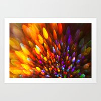 Champagne Sparkles and Color Bomb Burst Art Print