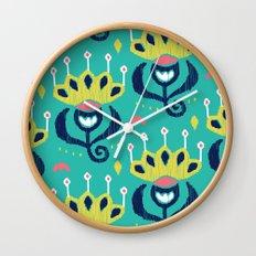 Royal Ikat Wall Clock