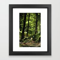 Hey! Framed Art Print