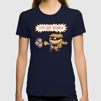 Cupcake woman Womens Fitted Tee Navy SMALL