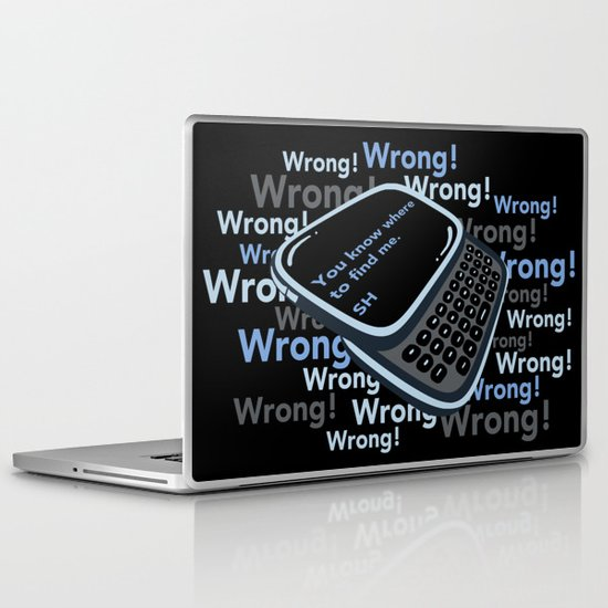 Texting Sherlock Laptop & iPad Skin