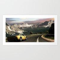 Canyon Run Art Print