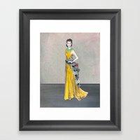 Rihanna | Golden Girl Fa… Framed Art Print