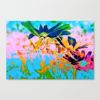 Secret Garden I - Floral Abstract Art Canvas Print