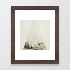 In A Cabin In The Woods Framed Art Print