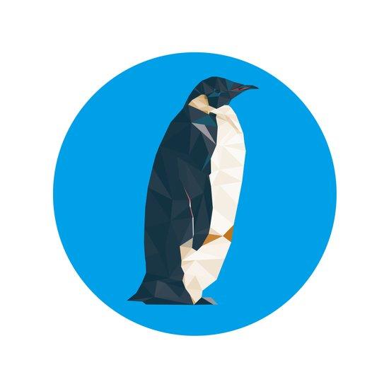 cyan penguin Canvas Print