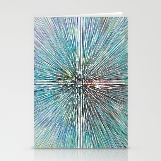 Digital Art Abstract Stationery Card