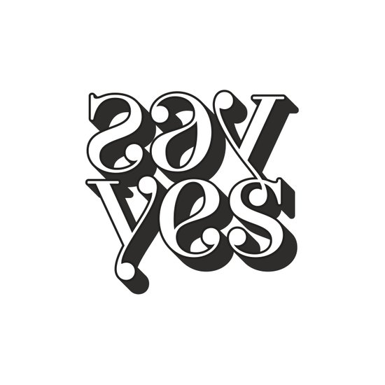 say yes  Art Print