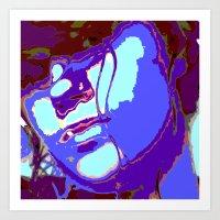 Blue Lagoon Geisha  Art Print