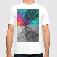Behind The ol' Crape Myrtle White SMALL Mens Fitted Tee