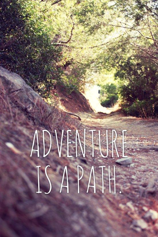 Adventure Is A Path Art Print