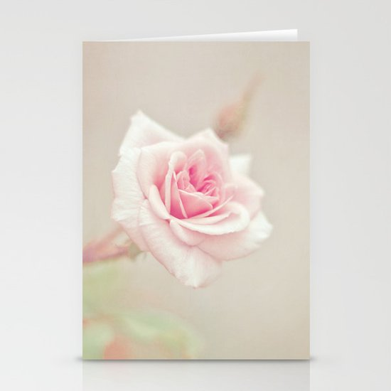 Little Pink Rose Stationery Card