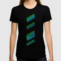 B.G Geo Womens Fitted Tee Black SMALL