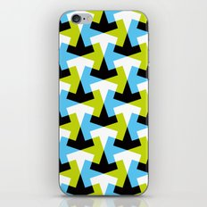 Geometric pattern (green + blue) iPhone & iPod Skin