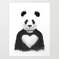 Lovely panda Art Print