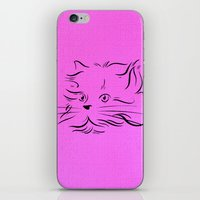 Cat Lines iPhone & iPod Skin