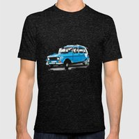 Renault 4L Mens Fitted Tee Tri-Black SMALL