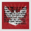 JACOB BANNON ON HARD WORK Canvas Print