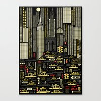 New York (Portrait) Canvas Print
