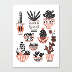 Mid-Century Modern Cacti  Canvas Print
