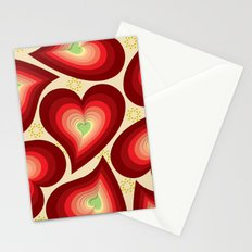 Coloured Hearts  Stationery Cards