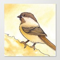 Yellow Black-capped Chic… Canvas Print