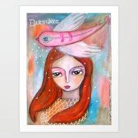 Blessings - Girl Art Art Print