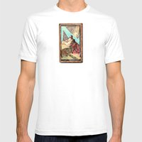 Double Jesus Mens Fitted Tee White SMALL