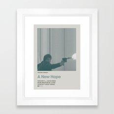 Retro Cinema Poster:A … Framed Art Print