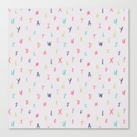 Bright Letters Canvas Print