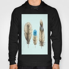 watercolor feathers (mint green) Hoody