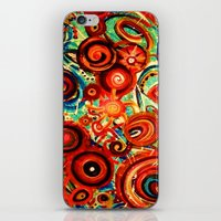 Naranja iPhone & iPod Skin
