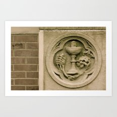 Brick and stone carving Art Print