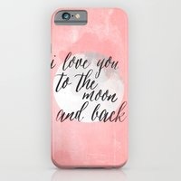 iPhone & iPod Case featuring i love you to the moon and back by Grace