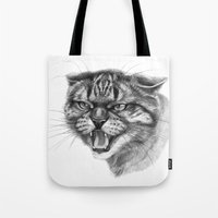 Wicked Cat Portrait G131 Tote Bag