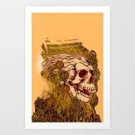 Art Print featuring SKULLION by Rahmad Kurniawan