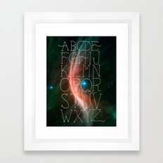 Alphabet in Outer Space Framed Art Print