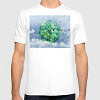 Little Planet #01 Mens Fitted Tee White SMALL