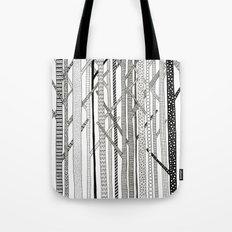 Pattern Trees Tote Bag