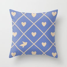 Always Near (from the Valentine set) (colors: deep dusk) Throw Pillow