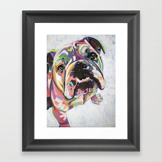 English Bulldog Print Framed Art Print By Adrienne Lewis