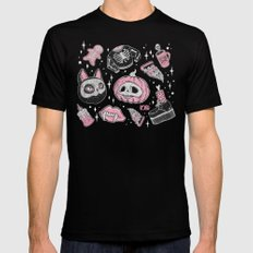 SPOOKS or CREEPS ? Black SMALL Mens Fitted Tee