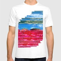 Beautifully Glitched Oslo, Norway Mens Fitted Tee White SMALL