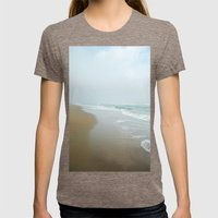Morning at Sea Womens Fitted Tee Tri-Coffee SMALL