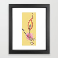 We Only Burn Bright Once Framed Art Print