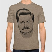 Ron Swanson Mens Fitted Tee Tri-Coffee SMALL