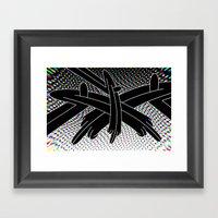 Stereo Split Framed Art Print