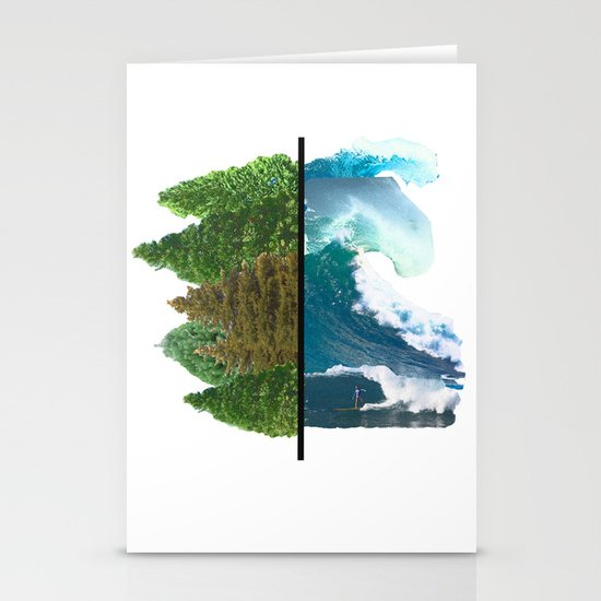 Tree and Surf Stationery Card