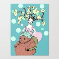 Purr Hairdresser Canvas Print