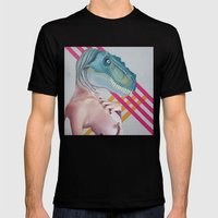 Queer Dinosaur Mens Fitted Tee Black SMALL